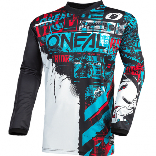 ONeal Element Ride Black Blue Jersey Image 3
