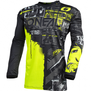 ONeal Element Ride Black Neon Yellow Jersey Image 3