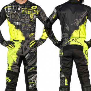 ONeal Element Ride Black Neon Yellow Jersey Image 4