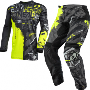 ONeal Element Ride Black Neon Yellow Pants Image 3