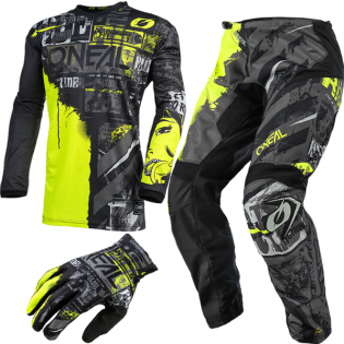 ONeal Element Ride Black Neon Yellow Pants Image 4
