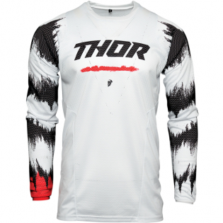 Thor Kids Pulse Air Rad White Red Jersey Image 2
