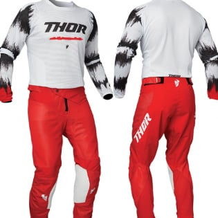 Thor Kids Pulse Air Rad White Red Jersey Image 3