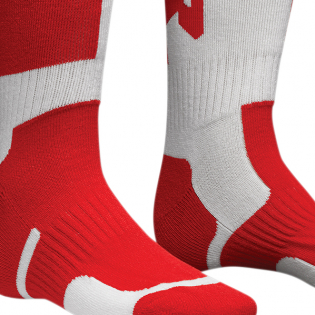 Thor Kids MX Long Red White Boot Socks Image 3