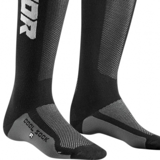 Thor Kids MX Cool Max Charcoal Black Boot Socks Image 2