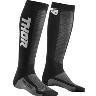 Thor Kids MX Cool Max Charcoal Black Boot Socks Image 3