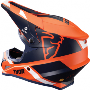 Thor Sector MIPS Split Orange Navy Helmet Image 2