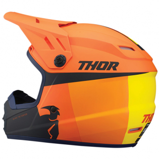 Thor Kids Sector Racer Orange Midnight Helmet Image 2
