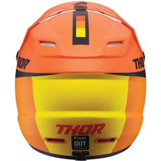 Thor Kids Sector Racer Orange Midnight Helmet Image 3