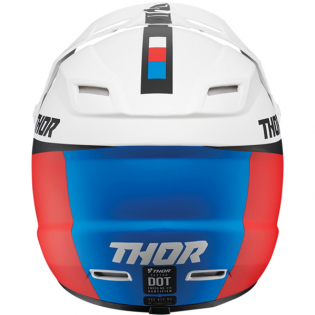 Thor Kids Sector Racer White Red Blue Helmet Image 3