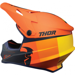 Thor Sector Racer Orange Midnight Helmet Image 2