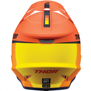 Thor Sector Racer Orange Midnight Helmet Image 3
