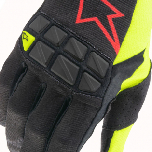 Alpinestars Racefend Black Yellow Fluo Red Fluo Gloves Image 2
