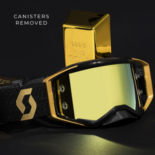 Scott Prospect WFS Black Gold Clear Roll Off Goggles Image 3