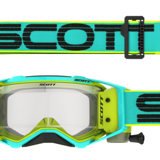 Scott Prospect WFS Teal Yellow Clear Roll Off Goggles Image 2