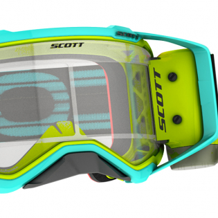 Scott Prospect WFS Teal Yellow Clear Roll Off Goggles Image 4