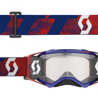 Scott Prospect WFS Red Blue Clear Roll Off Goggles Image 2
