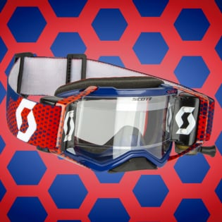 Scott Prospect WFS Red Blue Clear Roll Off Goggles Image 3