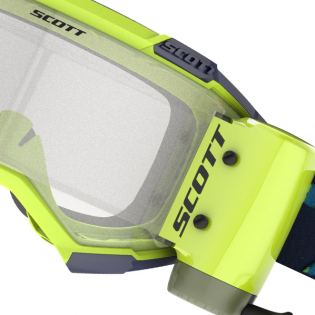 Scott Fury WFS Blue Yellow Clear Roll Off Goggles Image 2