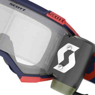 Scott Fury WFS Red Blue Clear Roll Off Goggles Image 2
