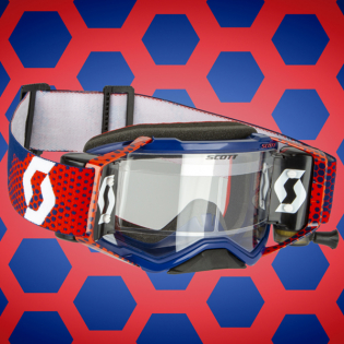 Scott Fury WFS Red Blue Clear Roll Off Goggles Image 3