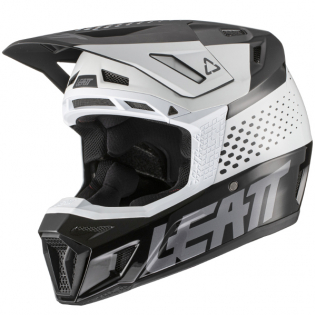 Leatt 8.5 V21.1 Black White Helmet Image 4