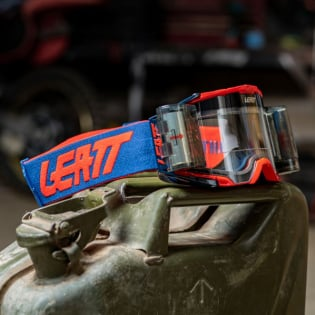 Leatt 6.5 Velocity Red Blue Clear Lens Roll Off Goggles Image 3