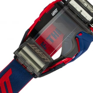 Leatt 6.5 Velocity Red Blue Clear Lens Roll Off Goggles Image 4