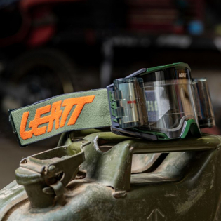 Leatt 6.5 Velocity Cactus Clear Lens Roll Off Goggles Image 3