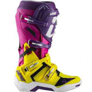 Leatt GPX 5.5 Flexlock United Yellow Purple Boots Image 2
