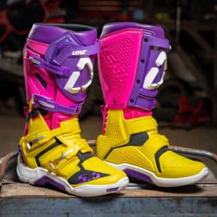 Leatt GPX 5.5 Flexlock United Yellow Purple Boots Image 3