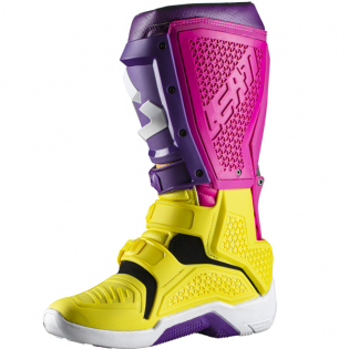 Leatt GPX 5.5 Flexlock United Yellow Purple Boots Image 4