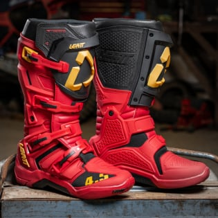 Leatt 4.5 Rioja Red Moto Boots Image 3