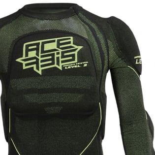 Acerbis X-Fit Future Black Yellow Fluo Body Armour Image 2