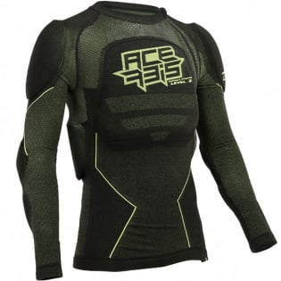 Acerbis X-Fit Future Black Yellow Fluo Body Armour Image 3