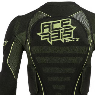 Acerbis X-Fit Future Black Yellow Fluo Body Armour Image 4