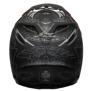 Bell Moto 9 Carbon Flex Fasthouse Day in the Dirt Black Grey Red Helmet Image 3