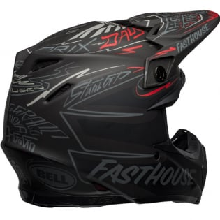 Bell Moto 9 Carbon Flex Fasthouse Day in the Dirt Black Grey Red Helmet Image 4