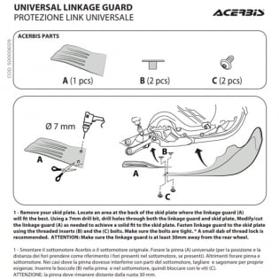 Acerbis Universal Red Skid Plate Link Guard Image 4