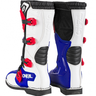 ONeal Rider Pro Blue Red White Boots Image 2