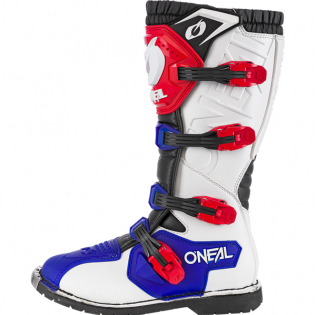 ONeal Rider Pro Blue Red White Boots Image 3