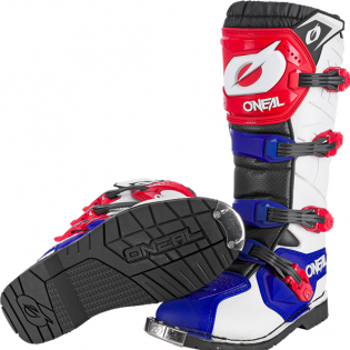 ONeal Rider Pro Blue Red White Boots Image 4