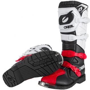 ONeal Rider Pro Black White Red Boots Image 3