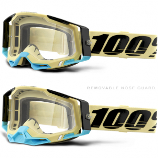 100% Racecraft 2 Airblast Clear Lens Goggles Image 3