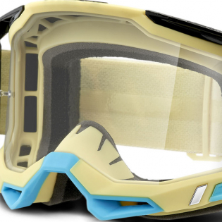 100% Racecraft 2 Airblast Clear Lens Goggles Image 4
