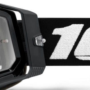 100% Racecraft 2 Black Clear Lens Goggles Image 2