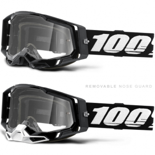 100% Racecraft 2 Black Clear Lens Goggles Image 3