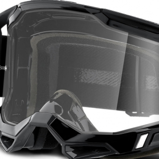 100% Racecraft 2 Black Clear Lens Goggles Image 4