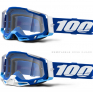 100% Racecraft 2 Blue Clear Lens Goggles