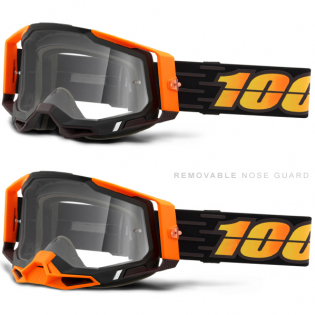 100% Racecraft 2 Costume 2 Clear Lens Goggles Image 3